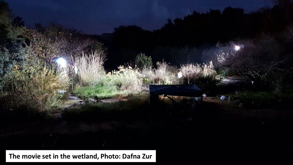 The movie set in the wetland, Photo: Dafna Zur