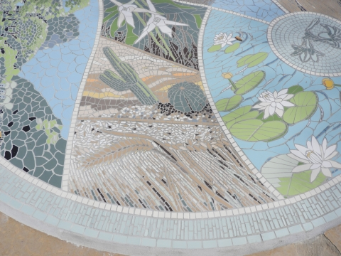 The mosaic at the Garden's entrance, Photo: Yael Orgad