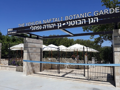 The renovated entrance to the Botanic Garden, photo: Gavri Sion